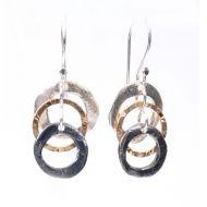 Triple Ring Drop Earrings