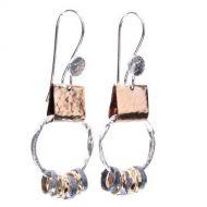 Rings on Loop Drop Earrings